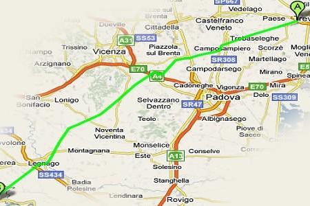 Ciclabile-Treviso-Ostiglia percorso