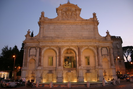 Roma, fontanone del Gianicolo