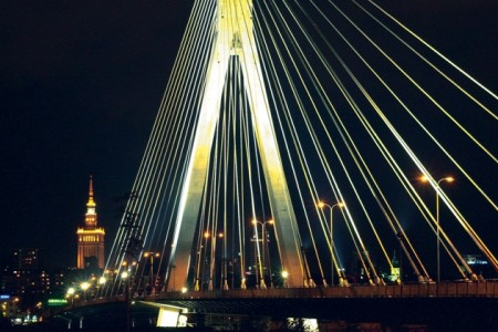 il ponte Swietokrzyski a Varsavia
