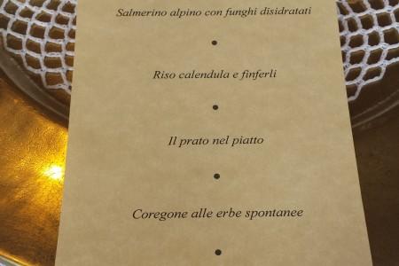 Malga Panna, menu gourmet