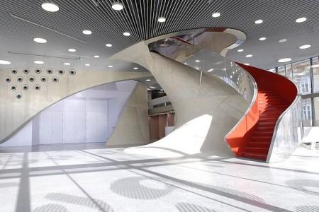 Graz, L'interno della Casa della musica (Foto copyright Graz Tourismus)