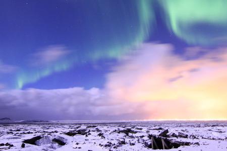 La famosa aurora boreale