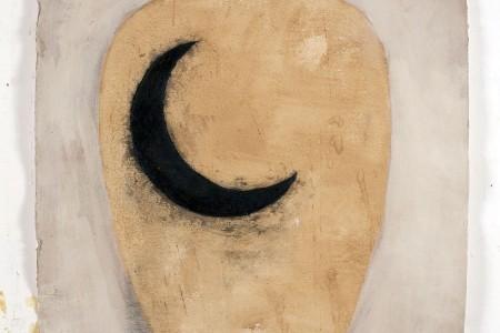 Piero Pizzi Cannella, Luna o Luna nuova, 2011, tecnica mistasu carta, cm 130x90