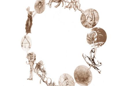 Prima ricostruzione (e studio prospettico) della ruota dello zodiaco leonardesco (inedito) per il Carro-Teatro dell'Universo di Leonardo. © Museo Ideale Leonardo Da Vinci, riproduzione autorizzata per la comunicazione del Carro-Teatro dell'Universo di Leonardo/Fondazione Carnevale di Viareggio