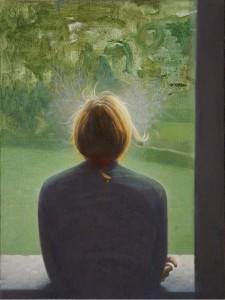 GIUSEPPE COLOMBO, Ragazza alla finestra, olio su tela, cm 30x40 (2010), lgt.jpg